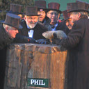 Punxsutawney Phil Prognosticating